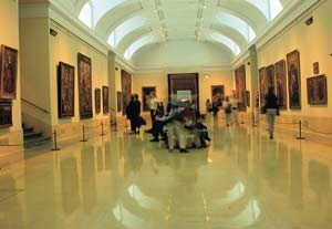 Interior of the central gallery in the Prado Museum © Turespaña